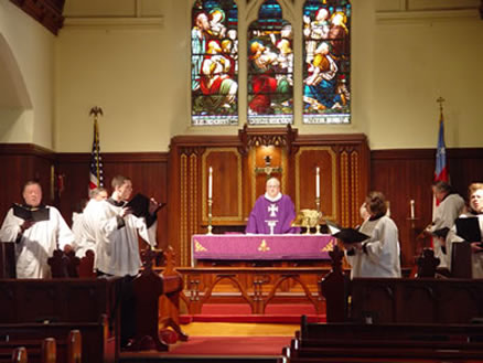 Service at the altar